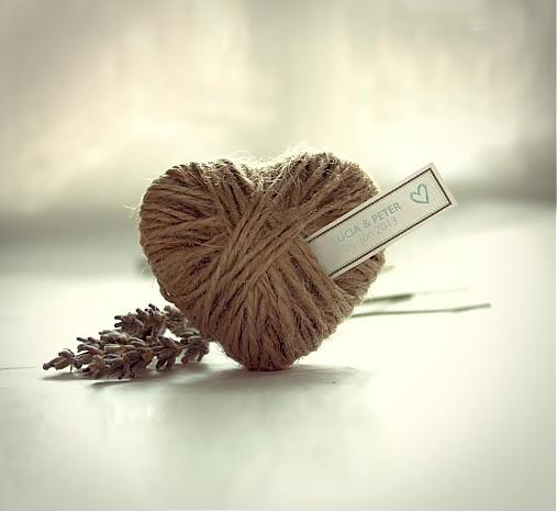 Darčeky pre svadobčanov - špagátové srdco - 2600334