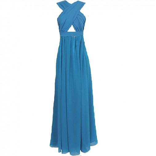 1ff0f9101fd0 Dlhé šifónové šaty holé brucho a chrbát v rôznych farbách   Dyona ...