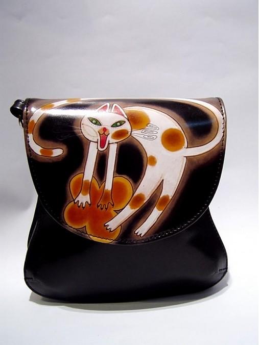 2b6f1ee283 Mystická mačka   ArtToWear - SAShE.sk - Handmade Kabelky