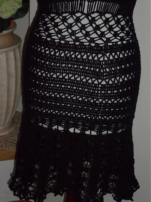 a2e7fa5798a3 Čierne háčkované šaty   Tanelly - SAShE.sk - Handmade Šaty