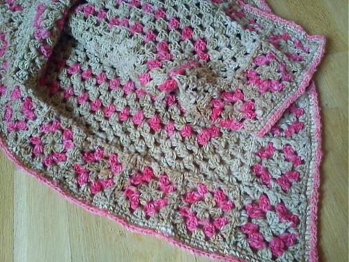 35ae4d4a7 Detská deka z ovčej vlny - ružová / oveckovo - SAShE.sk - Handmade ...