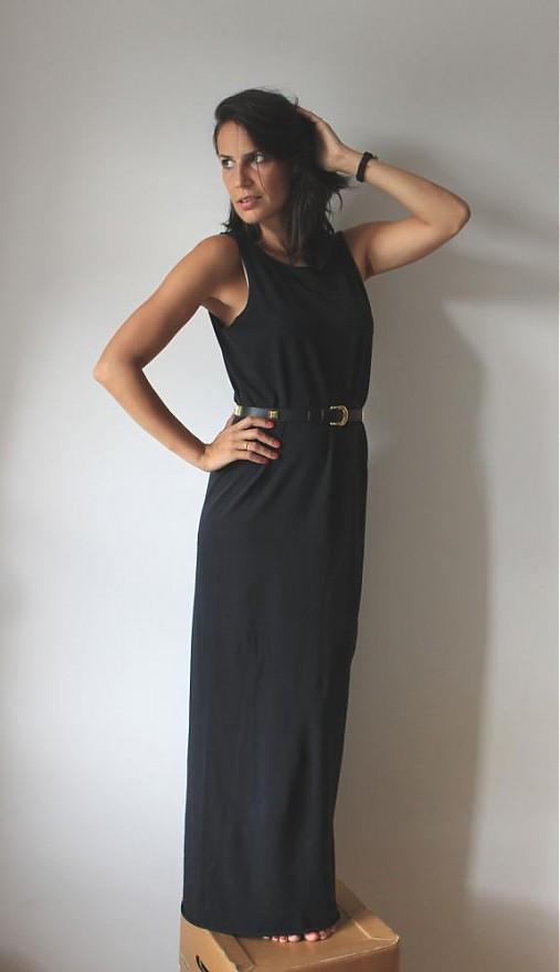 c8e669fd0ecc Čierne dlhé šaty   Drevena Helena - SAShE.sk - Handmade Šaty