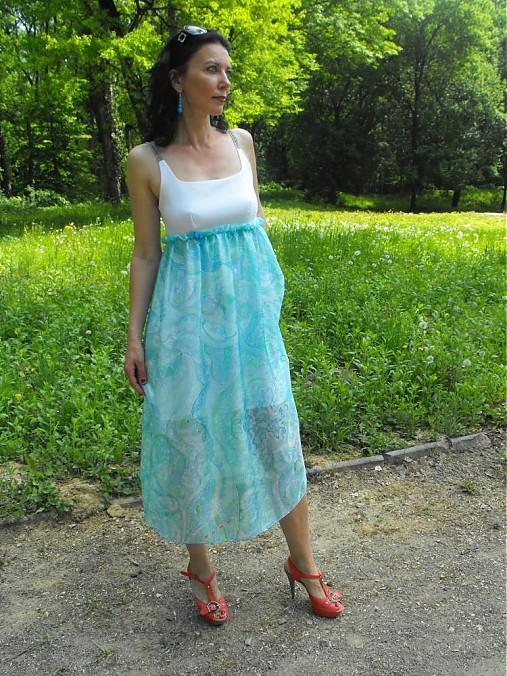 113e69e976ca Letné hodvábne šaty tyrkysové   Cherie-Cherie - SAShE.sk - Handmade Šaty