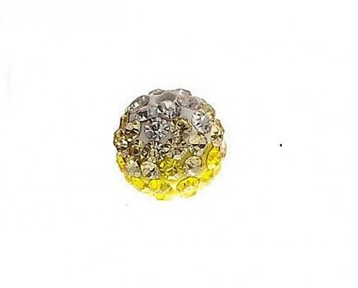shamballa korálky CZ kryštál bieložlté, 10mm, 0.57€/ks