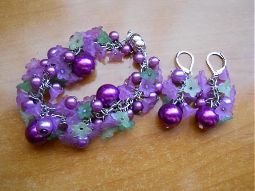 83ebf4aa8 Fialové zvončeky s perlami - sada / koralienka - SAShE.sk - Handmade ...