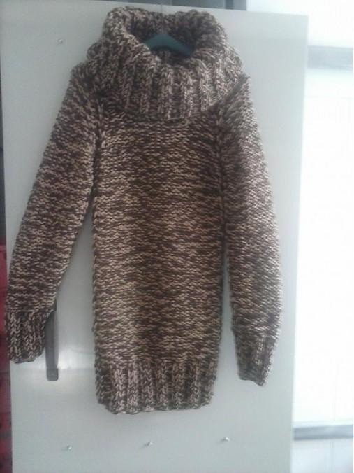 52d7ecdca6f Damsky pulover s maxi rolakom   terai - SAShE.sk - Handmade Svetre ...