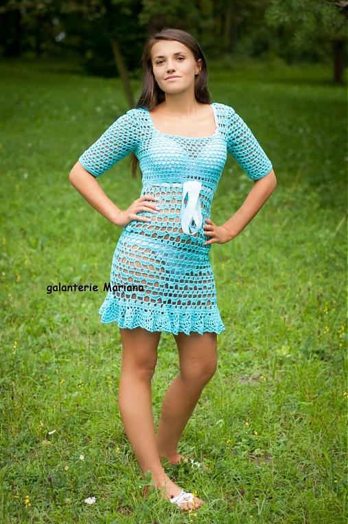 háčkované šaty Catalia vel.38