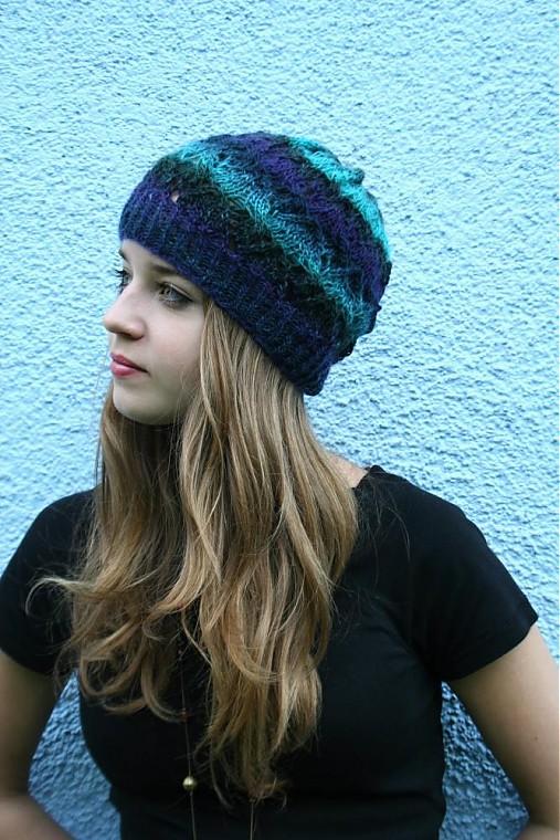 06166de0ea9 Melírovaná čepice z vlny s ažurovým vzorem   pletena-tvorba - SAShE ...