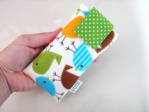 Barevní ptáčci - pouzdro na mobil