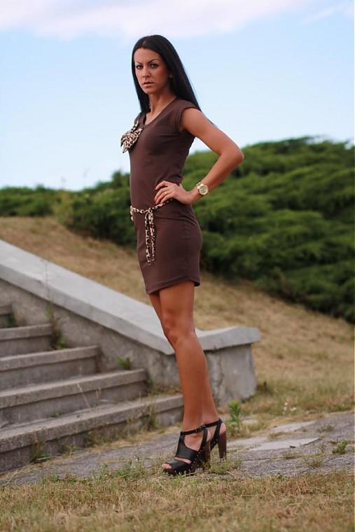 Ležérne šaty LEOPARD   veronikaIN FASHION - SAShE.sk - Handmade Šaty 3b13a778943