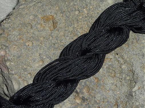 Nylonová šnúrka 1,5mm Čierna 16