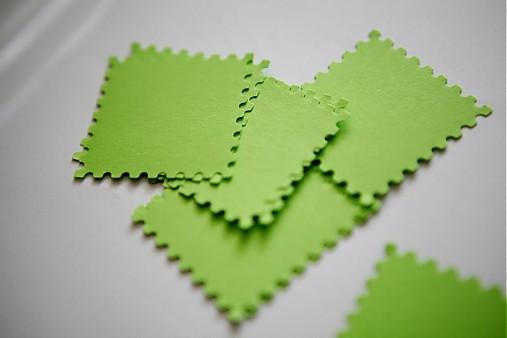 Zelené menovky na svadbu
