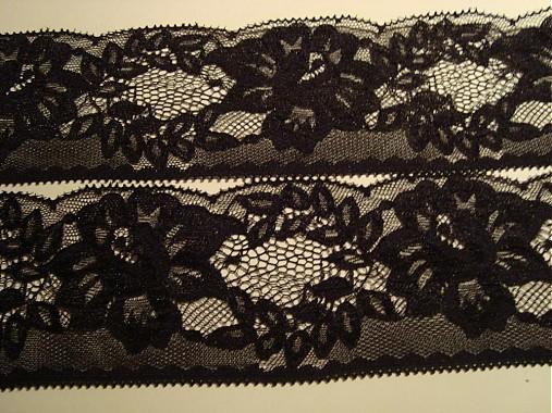 Čierna silonová čipka   KSJana - SAShE.sk - Handmade Galantéria 3d70a670296
