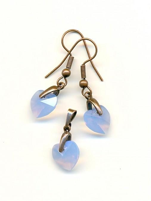 91cae9326 Swarovski sada Blue Opal / sean - SAShE.sk - Handmade Sady šperkov