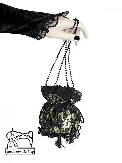 Čipková kabelka pompadúrka pre večerné a plesové šaty 0315 ... c2446f9c4a5