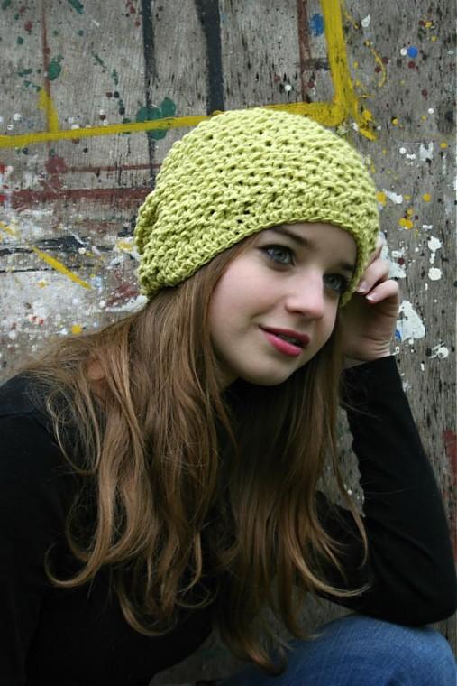 a209ff5d804 Pletená zelená hučka-bavlna   pletena-tvorba - SAShE.sk - Handmade ...
