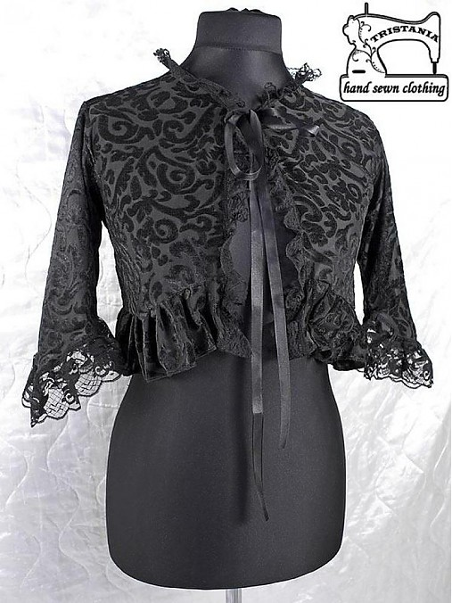 404157d206c0 Bolerko pre spoločenské šaty aj korzet 0030   Gothic Burlesque ...