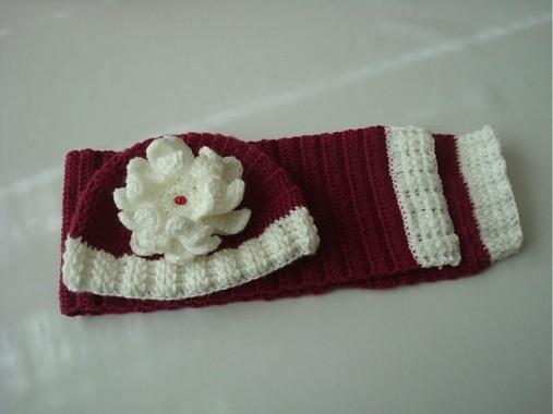 7c4bd4649 Dievčenská súprava / elania - SAShE.sk - Handmade Detské čiapky