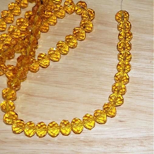 0312 Brúsené rondelky, oranžové, 10x8 mm, 1 ks
