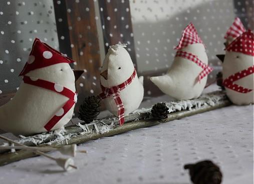 Vianoce - vrabce v zime - 3125479