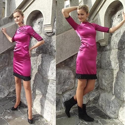 Saténové šaty Spain SKLADOM   Dyona - SAShE.sk - Handmade Šaty f54994c10ae