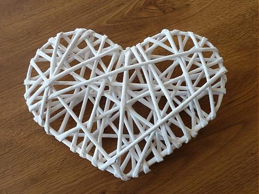 Papierové pletenie -srdce