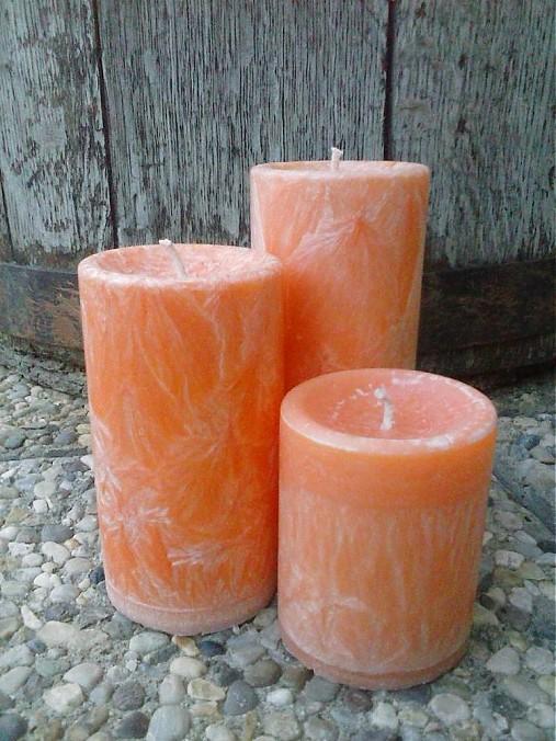 oranžová sada sviečok