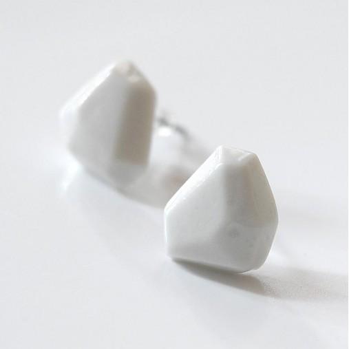 Náušnice biele Krystalix