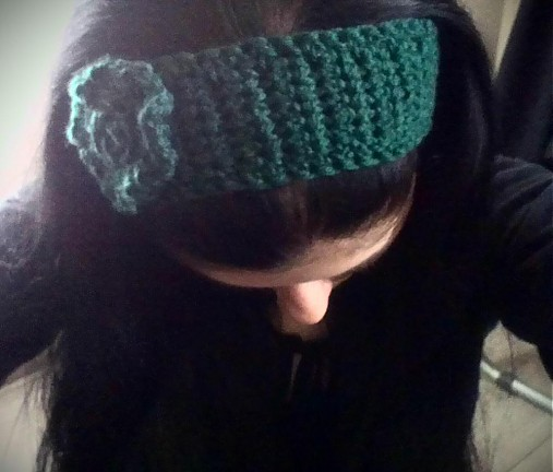 Smaragdová čelenka na zimu   jerrys - SAShE.sk - Handmade 8107e8654a