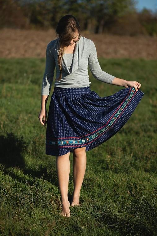 Modrotlačová sukňa II.