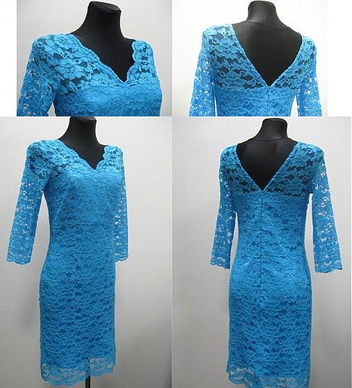 Šaty z krajky a elastického saténu rôzne farby   Dyona - SAShE.sk ... ddae86a9bf5