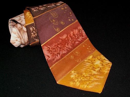 Hodvábna kravata Čokoláda, med a karamel...
