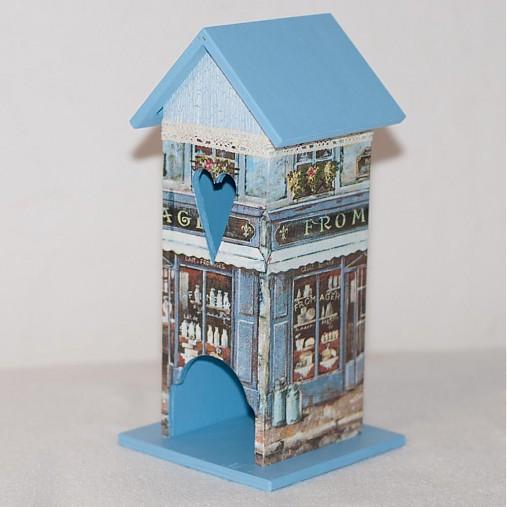 Domček na čaj - Modrý obchodík