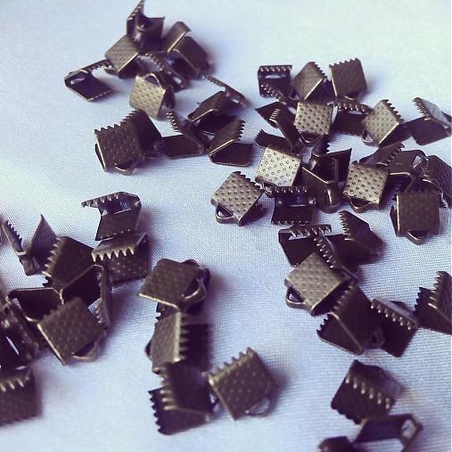 Ukončenie stuhy bronzové 6mm, 0,40€/10ks