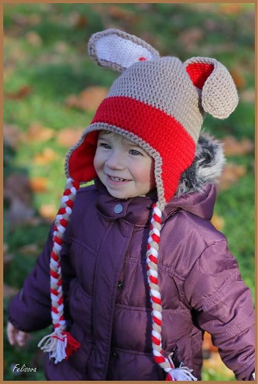 57a363edc Zajko smejko.... / motulka - SAShE.sk - Handmade Detské čiapky