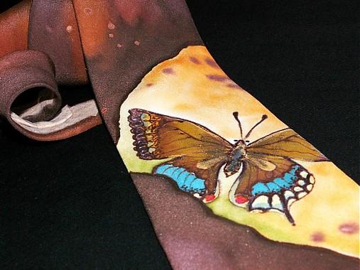 Hodvábna kravata Motýľ