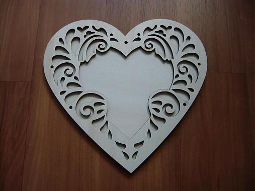 Srdce 11x11 ornament - rámik