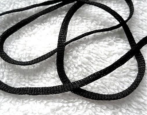 Lacetka šírka 3mm-čierna-1m