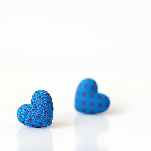 Náušnice srdiečka Blue