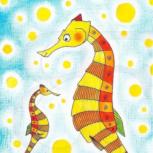a5d2bb0de2 Morský koník maľovaný obrázok reprodukcia   Fausova - SAShE.sk ...