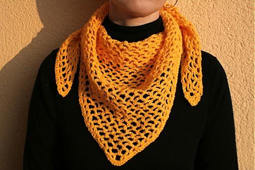 1c5407abfaf Žlutý háčkovaný šátek   pletena-tvorba - SAShE.sk - Handmade Šatky