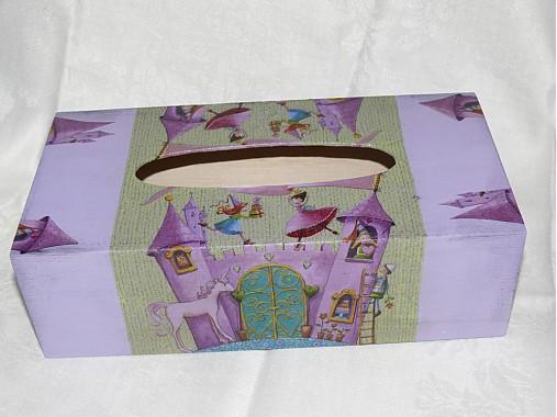 1dcbfd7eb Princeznová - dekoračná krabica na vreckovky / ZuzaKalix - SAShE.sk ...