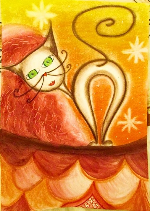 Macka Na Streche Poppie Sashe Sk Handmade Kresby