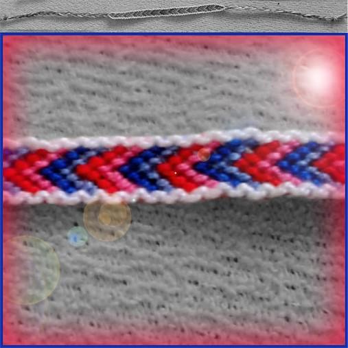 Ružovo-modrá šípka (náramok priateľstva)