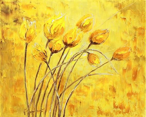 Žlté tulipany