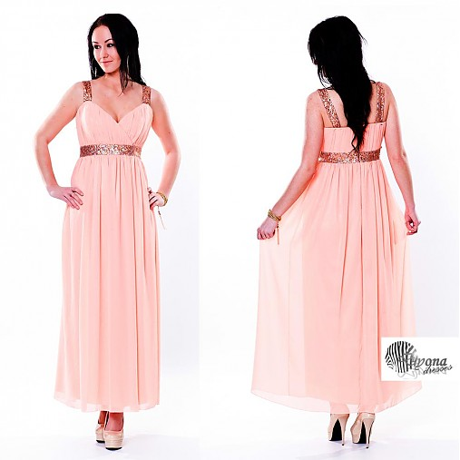 Šifónové spoločenské šaty s flitrami rôzne farby   Dyona - SAShE.sk ... c1f5fe7417d