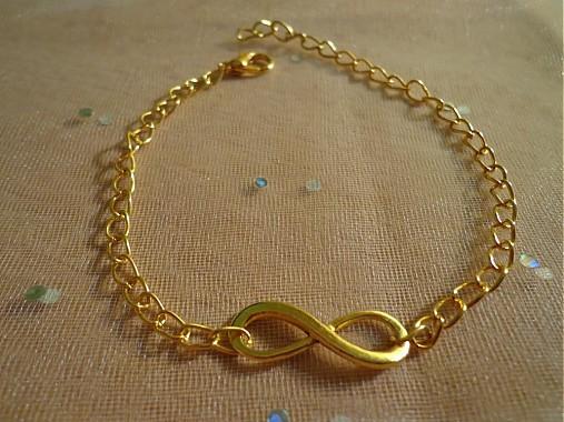 Zlatý náramok Nekonečno   mimusa12 - SAShE.sk - Handmade Náramky 7e003db7373