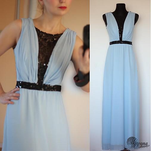 Šifónové šaty s flitrami na tyle rôzne farby   Dyona - SAShE.sk ... bd17f980e35