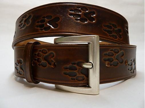 Kožený opasok 4 cm - Labky
