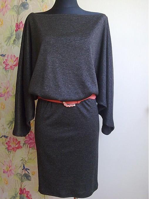 Hodvábne úpletové šaty čierne   timeas - SAShE.sk - Handmade Šaty 614a8d9bd27